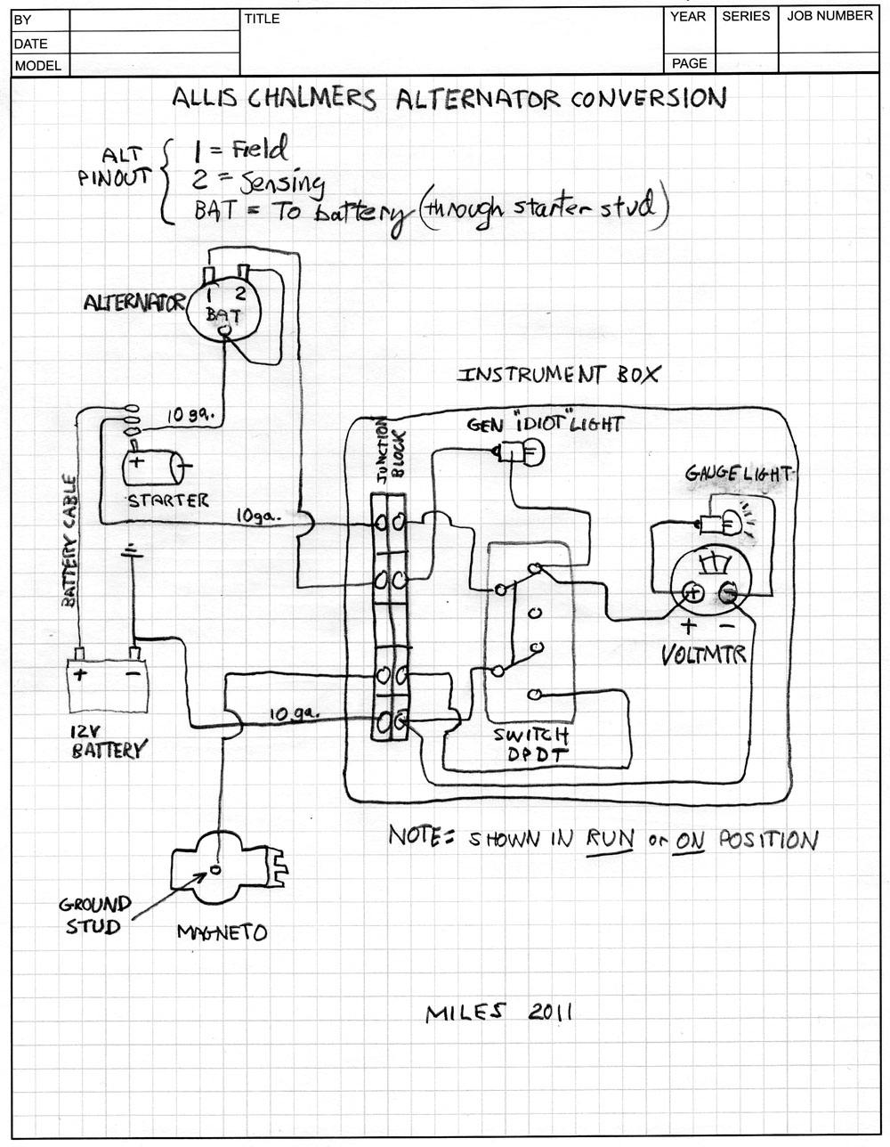 ACshematicjpg 12 volt conversion help! allischalmers forum allis chalmers ca 12 volt wiring diagram at readyjetset.co