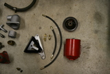 External Fram bypass oil filter for Willys L134 engine