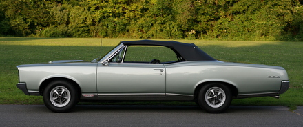 1967 GTO side view Linden Green Rally II's