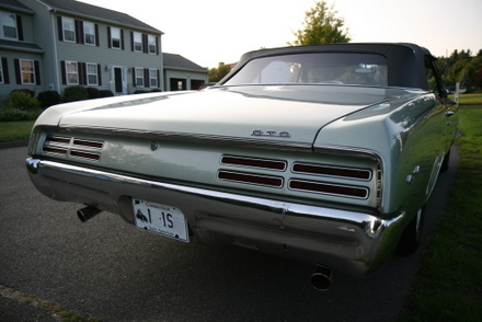 1967 GTO Convertible Rear view detail